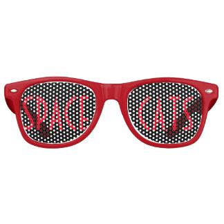 Gafas De Fiesta Retro Gatos del espacio (rojos)