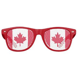 Gafas De Fiesta Retro Hoja de arce canadiense Canadá blanco rojo de la