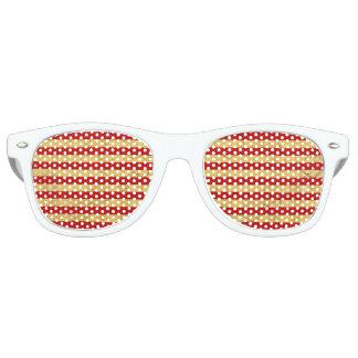 Gafas De Fiesta Retro Hoja de oro elegante y modelo rojo de la raya