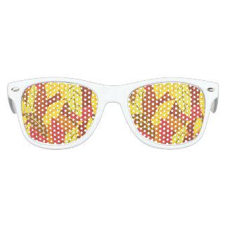 Gafas De Fiesta Retro Hojas calientes coloreadas modelo del otoño
