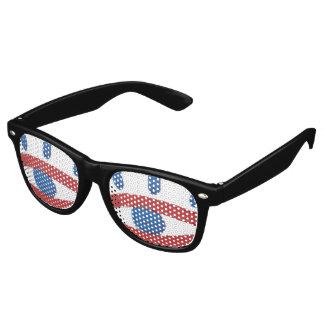 Gafas De Fiesta Retro Los vidrios del fiesta del aviador del ojo