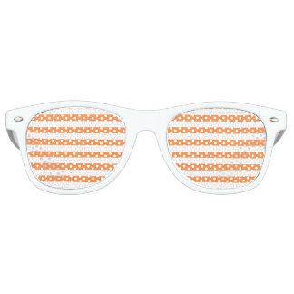 Gafas De Fiesta Retro Modelo anaranjado y blanco de la raya