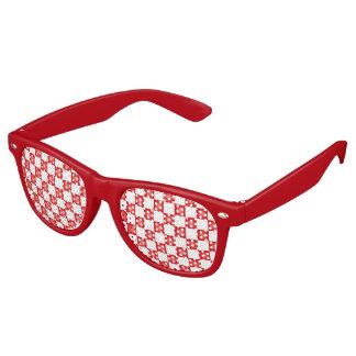 Gafas De Fiesta Retro Modelo blanco rojo del tablero de damas