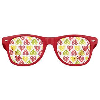Gafas De Fiesta Retro Modelo colorido de los corazones de Apple