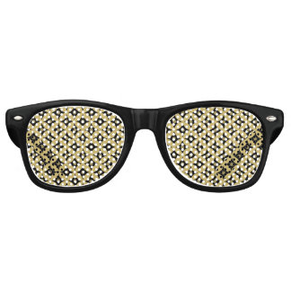 Gafas De Fiesta Retro Modelo de lunares elegante del círculo del negro y