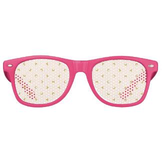 Gafas De Fiesta Retro Modelo de lunares femenino moderno del rosa y del