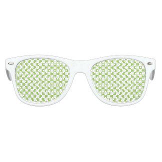 Gafas De Fiesta Retro Modelo del tablero de damas del verde amarillo
