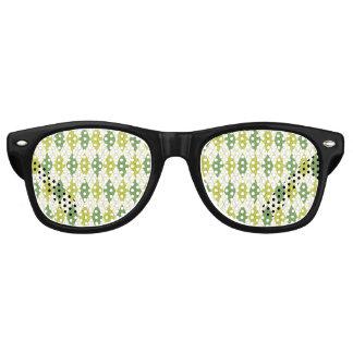 Gafas De Fiesta Retro Modelo geométrico verde retro de Argyle