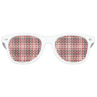 Gafas De Fiesta Retro Modelo rojo y negro de la tela escocesa