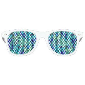Gafas De Fiesta Retro Modelo tribal abstracto azulverde de Boho