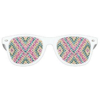 Gafas De Fiesta Retro Modelo tribal abstracto colorido brillante de Boho