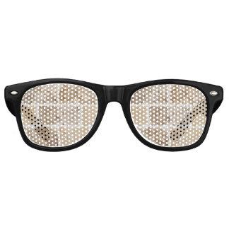 Gafas De Fiesta Retro Moreno geométrico