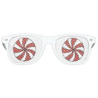 Gafas De Fiesta Retro Navidad blanco rojo del día de fiesta de la menta
