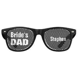 Gafas De Fiesta Retro Padre del negro A09 blanco del favor del boda de