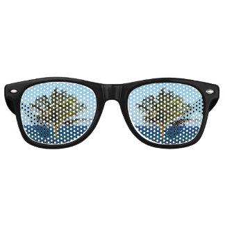 Gafas De Fiesta Retro Palmera sobre el océano