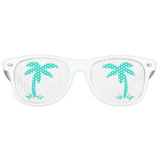 Gafas De Fiesta Retro Palmeras de la turquesa