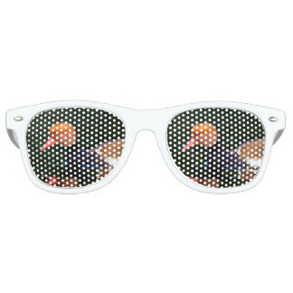 Gafas De Fiesta Retro Pato de mar de cresta roja masculino, rufina del