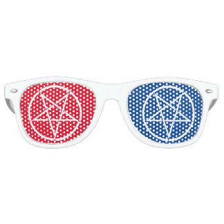 Gafas De Fiesta Retro Pentagram invertido con los colores 3D-style