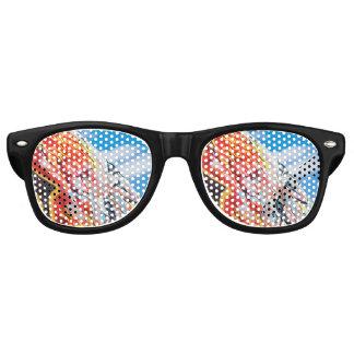 Gafas De Fiesta Retro pintada del planeta