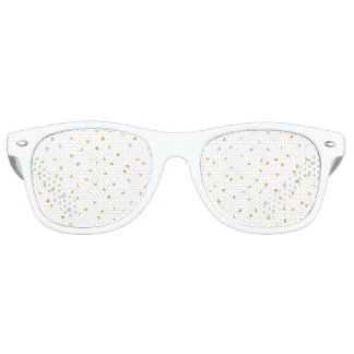 Gafas De Fiesta Retro Puntos modernos elegantes del confeti del blanco y