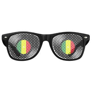 Gafas De Fiesta Retro Reggae del vinilo