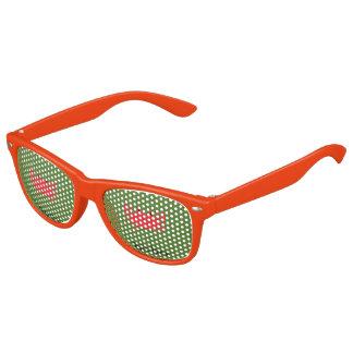 Gafas De Fiesta Retro Rojo del cangrejo del mar