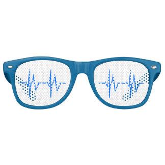 Gafas De Fiesta Retro Símbolo sano del ecg del corazón del personal