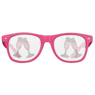 Gafas De Fiesta Retro Sombras de cristal rosadas del banquete de boda de
