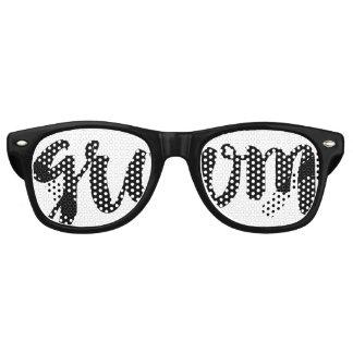 Gafas De Fiesta Retro Sombras del fiesta del Swag de los novios