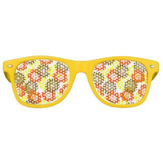 Gafas De Fiesta Retro sombras florales de los años 70