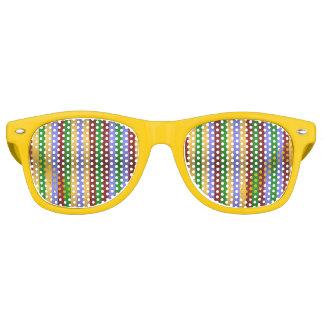 Gafas De Fiesta Retro Sombras metálicas del fiesta de las rayas