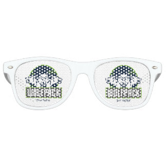 Gafas De Fiesta Retro Sombras retras adultas del fiesta, blancas