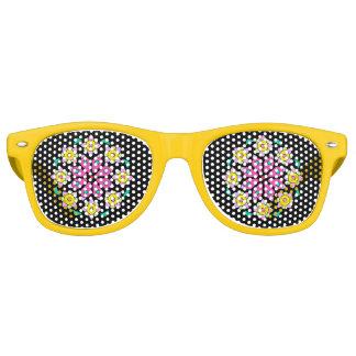 Gafas De Fiesta Retro Sombras rosadas negras amarillas retras del fiesta