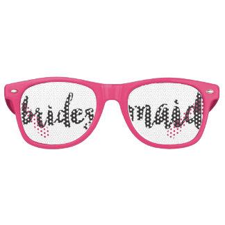 Gafas De Fiesta Retro Swag puesto letras mano de la dama de honor ir de