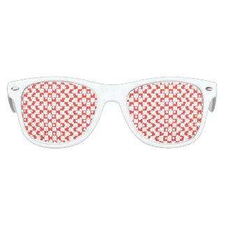 Gafas De Fiesta Retro Tablero de damas rojo