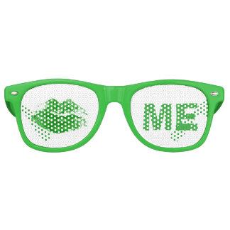 Gafas De Fiesta Retro Verdes divertidos me besan el día de St Patrick