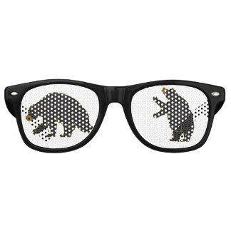 Gafas De Fiesta Retro Vidrios del oso de la diversión