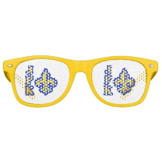 Gafas De Fiesta Retro Vidrios retros de la flor de lis de JFK
