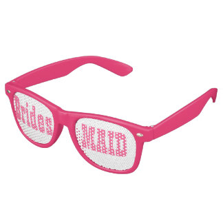 Gafas De Fiesta Retro Vidrios rosados del fiesta del Swag de la dama de