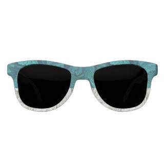 Gafas de sol azulverdes y grises de la declaración