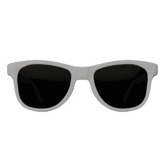 Gafas De Sol Chevron blanco negro fino moderno raya el modelo