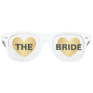 Gafas de sol - corazón fabuloso el negro de oro de