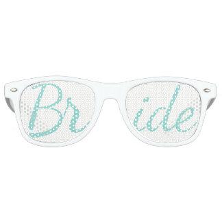 Gafas de sol de la novia del banquete de boda de