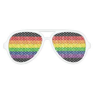 Gafas de sol del arco iris del orgullo gay