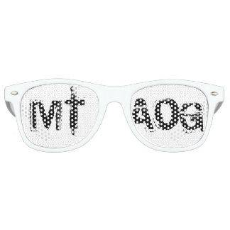 Gafas de sol del blanco del logotipo de