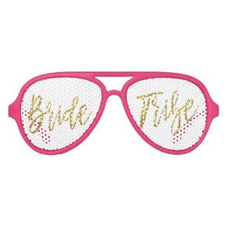 Gafas de sol del fiesta de la hoja de oro de la