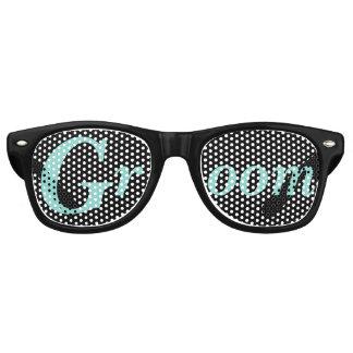 Gafas De Fiesta Retro Gafas de sol del novio del banquete de boda de la