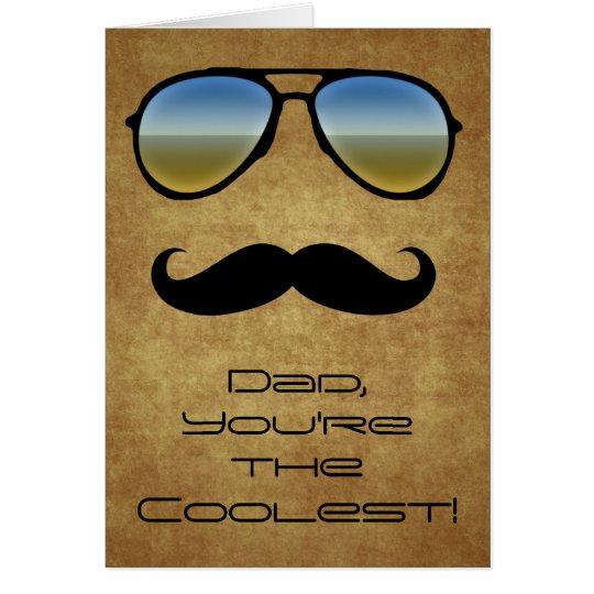 Gafas de sol del papá/tarjeta de felicitación