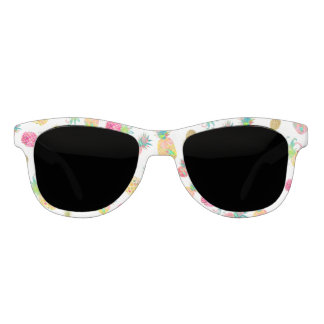 Gafas De Sol Fondo de la hawaiana Pineapples/DIY de PixDezines