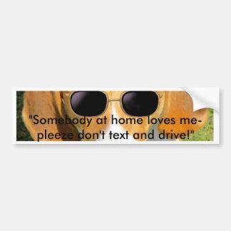 Gafas de sol frescas del perro de caza w de la peg pegatina para coche